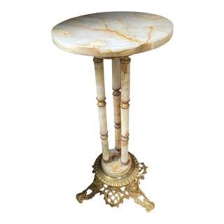 Antique Marble Pedestal For Sale