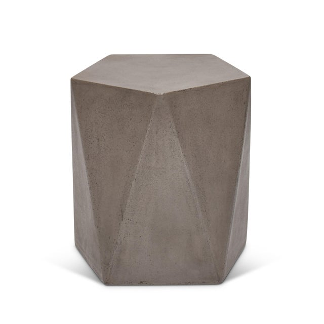 Concrete John Stool, Dark Grey For Sale - Image 7 of 7