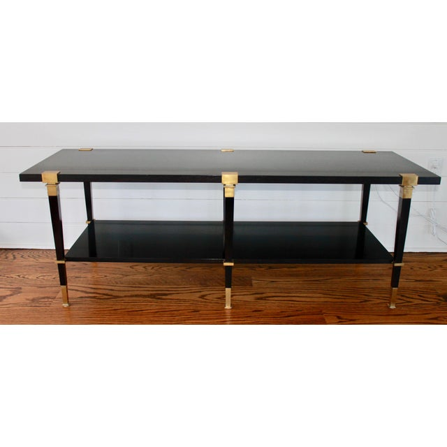 Andre Arbus 'Avenue' Ebonized Walnut Cocktail Table For Sale In New York - Image 6 of 11