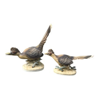 Lefton Hand Painted Numbered Roadrunner Figurines - a Pair For Sale