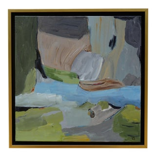 """Laurie MacMillan """"Inlet"""" Abstract Landscape Painting For Sale"""