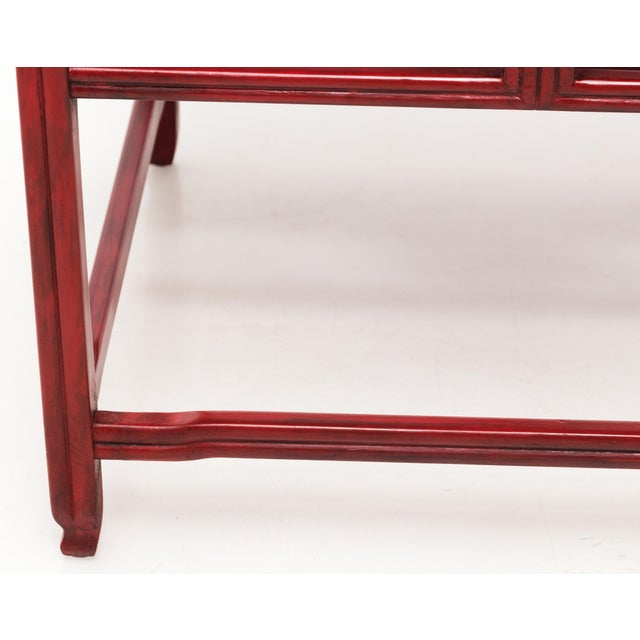 Metal Michael Taylor for Baker Far East Red Occasional Table For Sale - Image 7 of 9