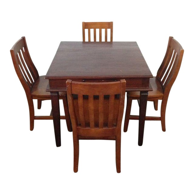 Vintage Carved Mahogany Games Table Suite - Image 1 of 6