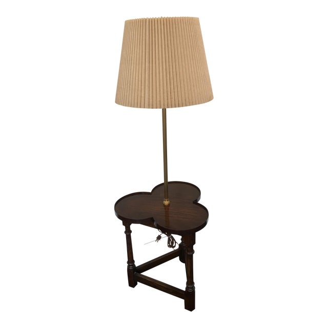 Frederick cooper clover shaped wood floor lamp chairish frederick cooper clover shaped wood floor lamp image 1 of 11 aloadofball