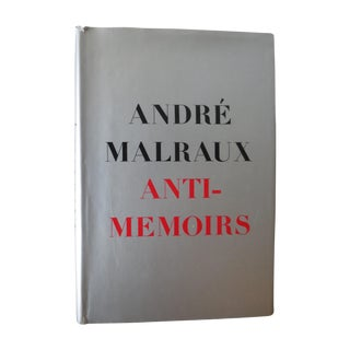 Vintage 1968 'Anti-Memoirs' by Andre Malraux Book For Sale