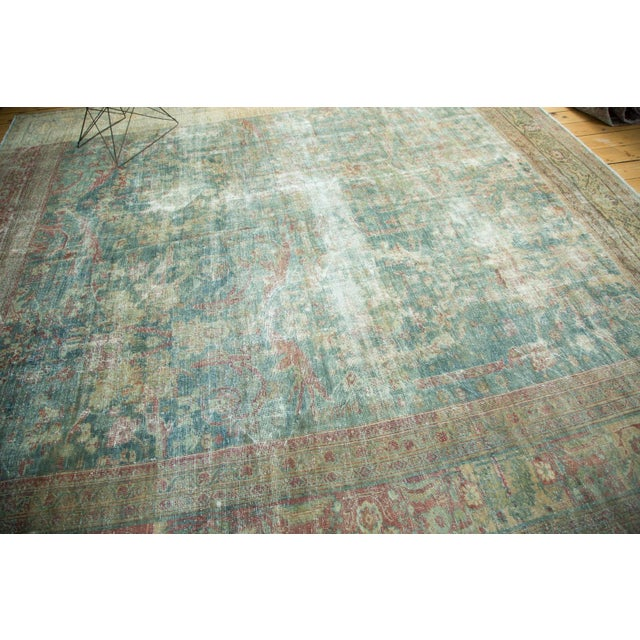 "Antique Mahal Square Carpet - 9'10"" x 10'9"" For Sale - Image 5 of 10"