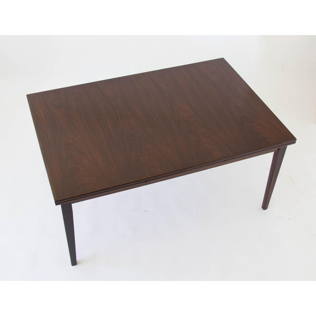 Gudme Rosewood Dining Table with Dutch Extension by Gudme For Sale - Image 4 of 9