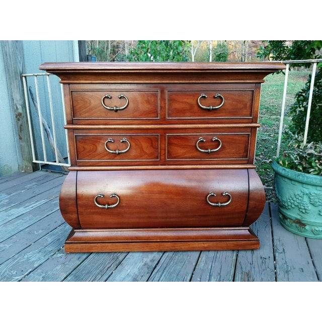 1966 Drexel Et Cetera Kettle Base Walnut 3 Drawer Accent Chest For Sale - Image 12 of 13