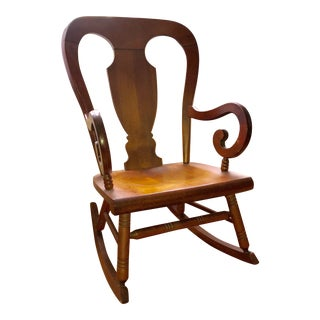 Tell City Balloon Back Rocking Chair For Sale