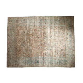 "Vintage Distressed Meshed Carpet - 9'9"" X 13'"