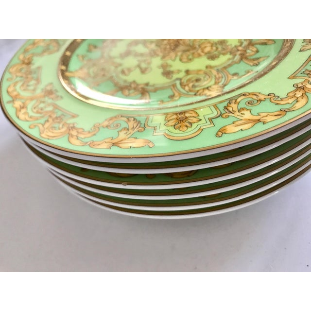 "Versace by Rosenthal ""Green Floralia"" Small Plates- Set of 6 - Image 5 of 5"