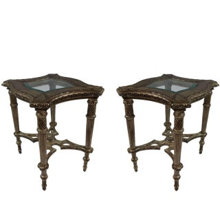 Late 20th Century Vintage Side Tables- A Pair For Sale