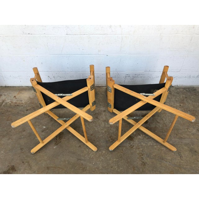 Vintage Wood Folding Director Chairs With Mercury Outboard Advertising - a Pair For Sale - Image 6 of 13