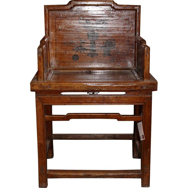 Antique Chinese Arm Chair For Sale - Image 5 of 5