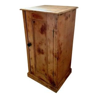 Pine Wash Stand With Door for Storage Below For Sale