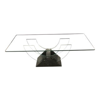 Roche Bobois Marble & Glass Deco Revival Coffee Table