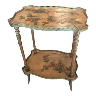 19th Century Chinoiserie Gilded Two Tier Side Table