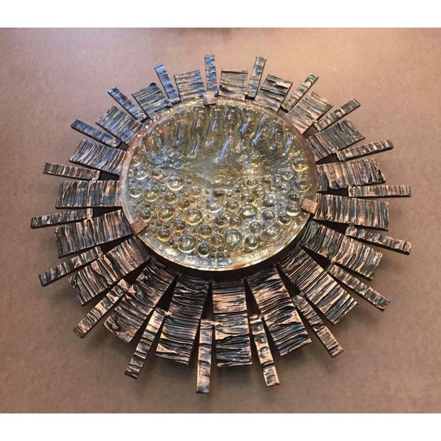 Brutalist Tom Ahlstrom Brutalist Sunburst Sconces / Flush Mounts (6 Available) For Sale - Image 3 of 7