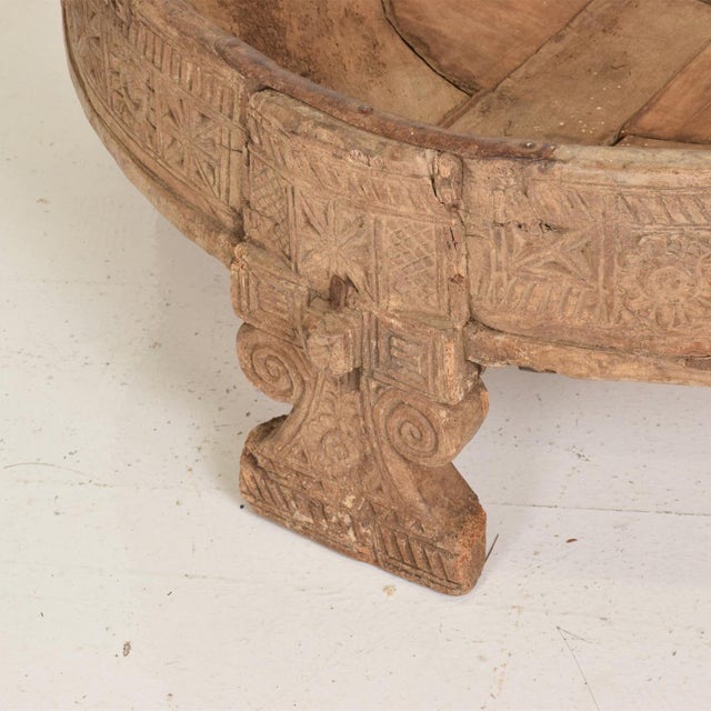 Antique Wood Planter Base for Outdoor Patio, Rice Water Table For Sale In San Diego - Image 6 of 8