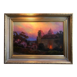 """Lydia and Evgeny Baranov """"Mystic Twilight"""" Painting For Sale"""