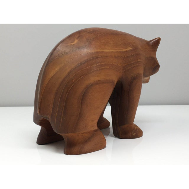 Danish Modern Hand Turned Wood Bear Figurine For Sale In Detroit - Image 6 of 9