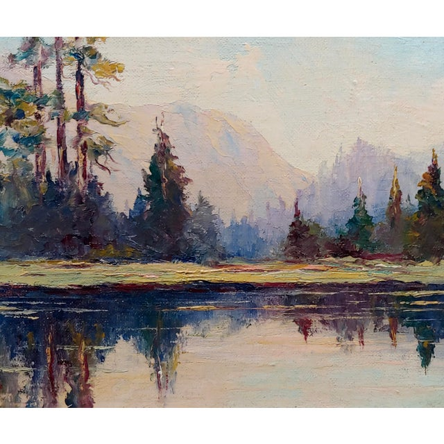 1940s Jules Bernard Dahlager -View of Short Bay in Ketchikan Alaska C.1940- Impressionist Oil Painting For Sale - Image 5 of 9
