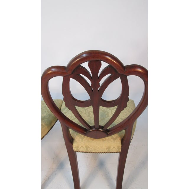Chestnut 1940s Vintage Custom Made Mahogany Chairs- Set of 6 For Sale - Image 8 of 10