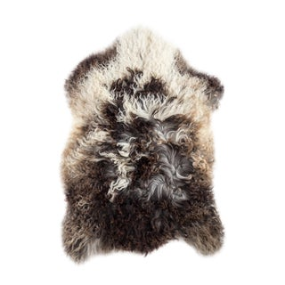 "Contemporary Natural Sheepskin Pelt - 2'1""x2'8"""
