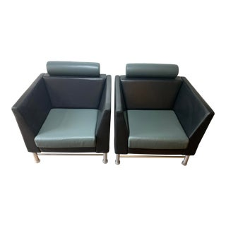 Knoll East Side 1980s Lounge Chairs - A Pair For Sale