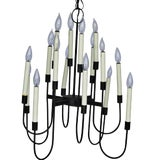 Image of Mid-Century 16 Light Wrought Iron Chandelier For Sale
