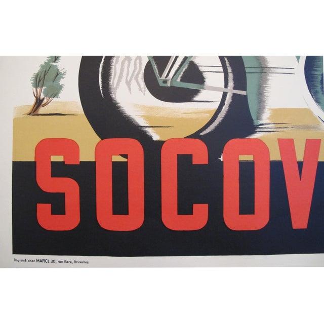 1940s Belgian Art Deco Motorcycle Poster - Image 4 of 5