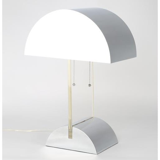 GEORGE KOVACS POLISHED CHROME AND LUCITE TABLE LAMP, CIRCA 1970S For Sale In New York - Image 6 of 8