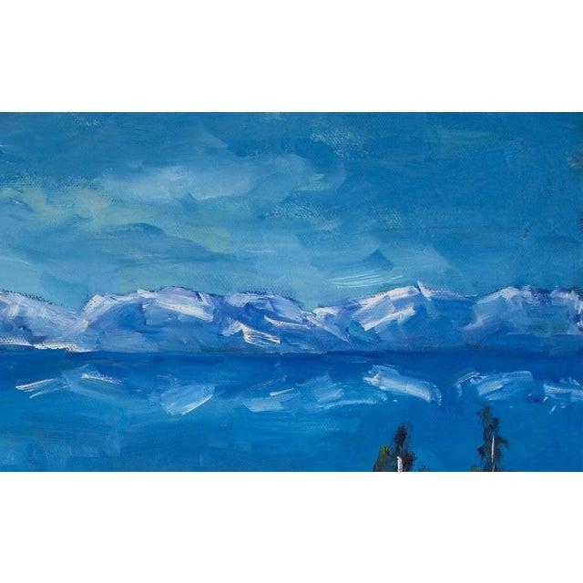 2020s Diamond Peak Run Original Oil Painting Landscape For Sale - Image 5 of 12
