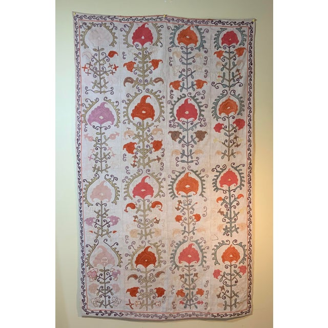 Antique Suzani Panel Wall Hanging For Sale - Image 13 of 13