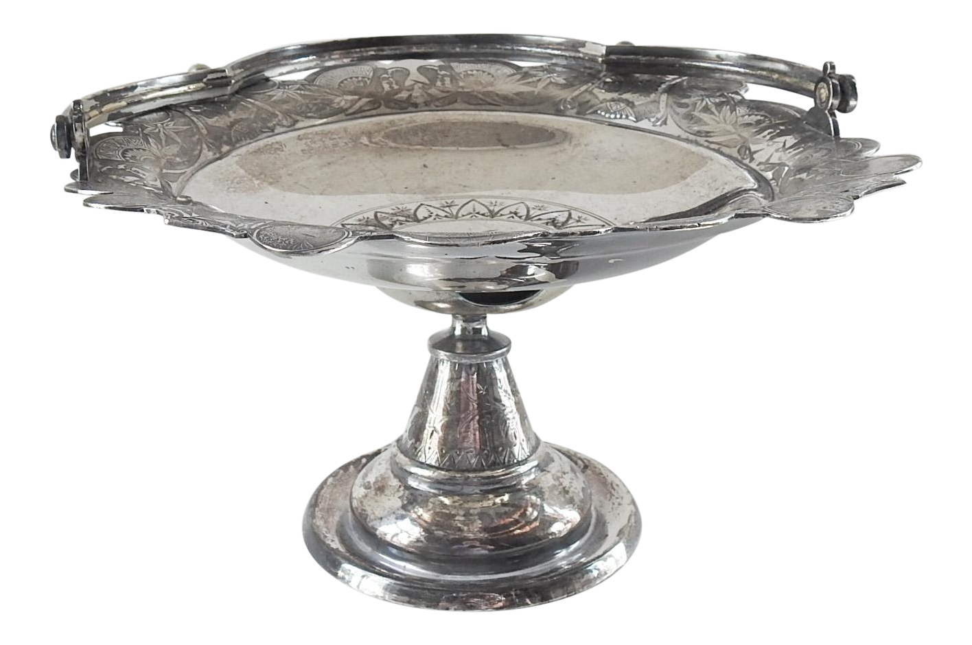 Antique Aesthetic Movement Silver Plate Tray Basket With Birds Chairish