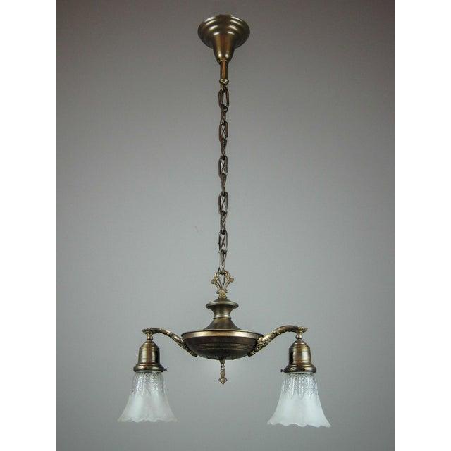 Original Pan Light Fixture (2-Light) - Image 2 of 7