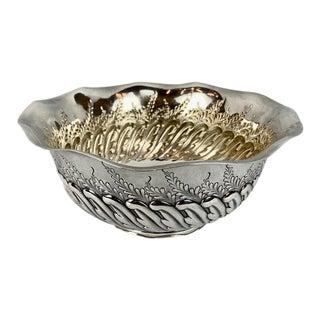 "Bailey, Banks & Biddle Sterling Silver Repoussé 9.5"" Bowl For Sale"