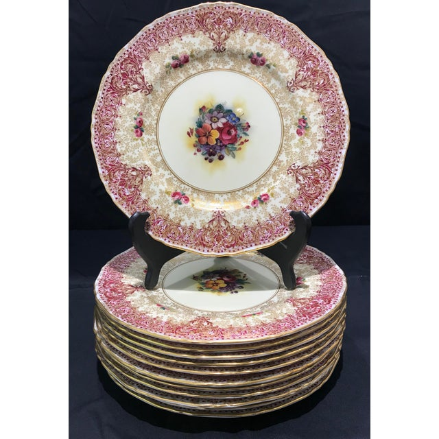 Ceramic Early 19th Century Royal Worcester Dinner Plates - Set of 12 For Sale - Image 7 of 7