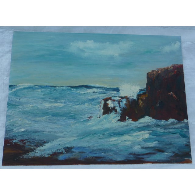 MCM Painting of Turbulent Waves h.l. Musgrave - Image 2 of 6