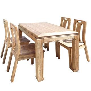 Light Wood Dining Set For Sale