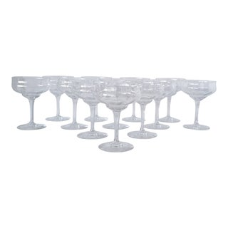 Baccarat Capri Champagne Coupes - Set of 12 For Sale