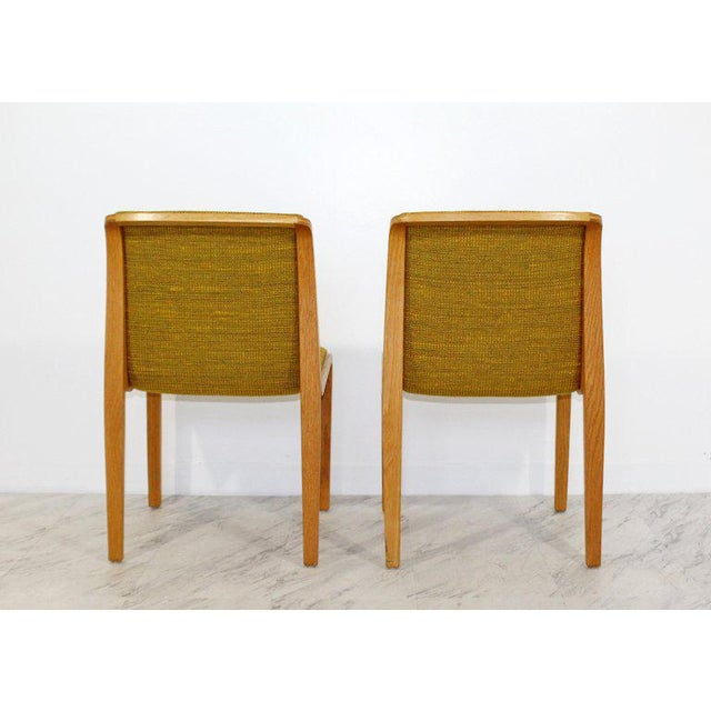 1970s Mid-Century Modern Bill Stephens for Knoll Blonde Wood Side Chairs - Set of 4 For Sale In Detroit - Image 6 of 10