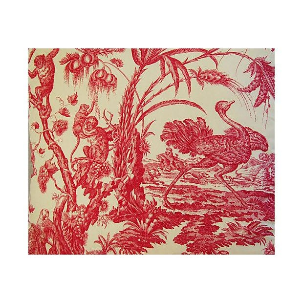 French Marius Boudin Toile & Linen Pillow - Image 2 of 7