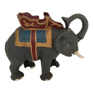 20th Century Americana Cast Iron Circus Elephant Bank For Sale