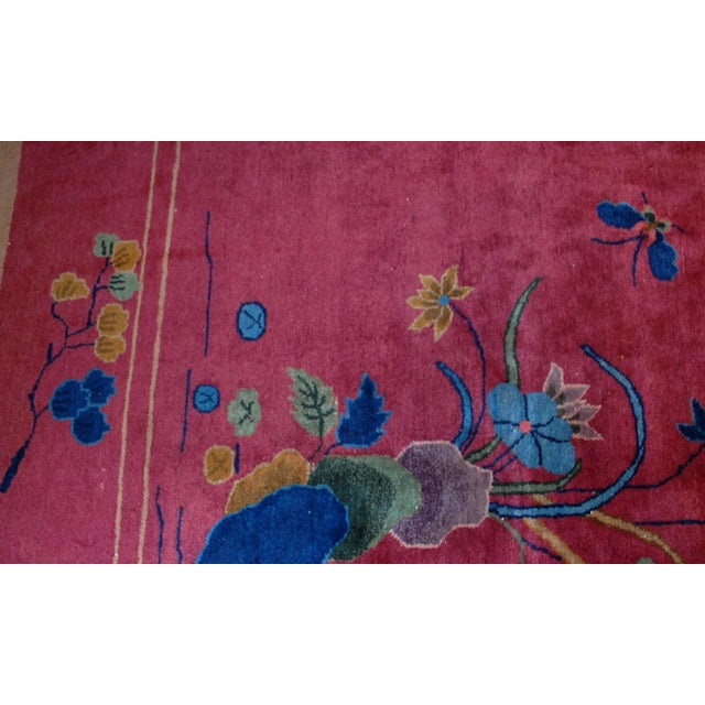 1920s Antique Art Deco Chinese Rug - 8′10″ × 11′8″ - Image 4 of 8