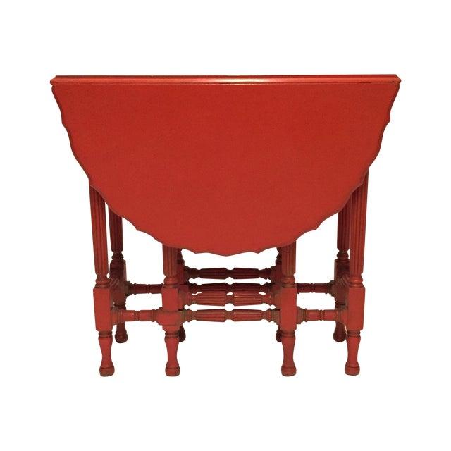 Vintage Orange Drop Leaf Table - Image 1 of 11