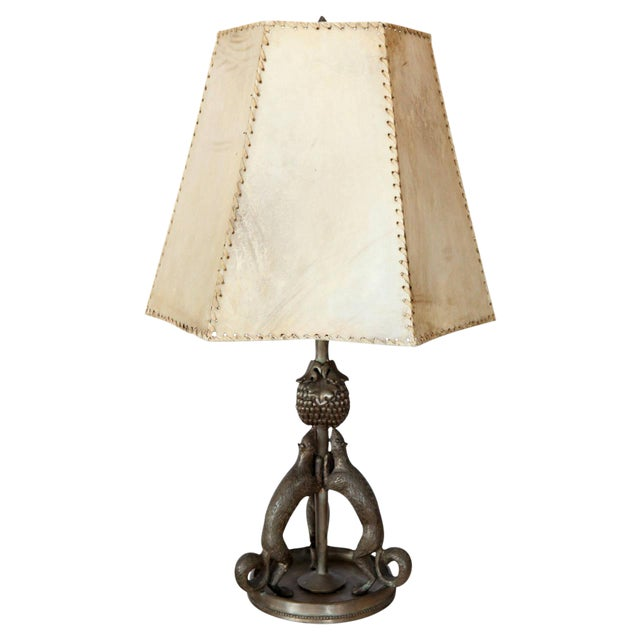 Silvered Bronze Squirrel Table Lamp - Image 1 of 10