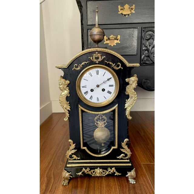 Antique Mid 19th Century French Mantel Clock With Case For Sale - Image 11 of 11