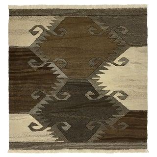 Rug & Relic Organic Modern Kilim | 3'2 X 3'2 For Sale