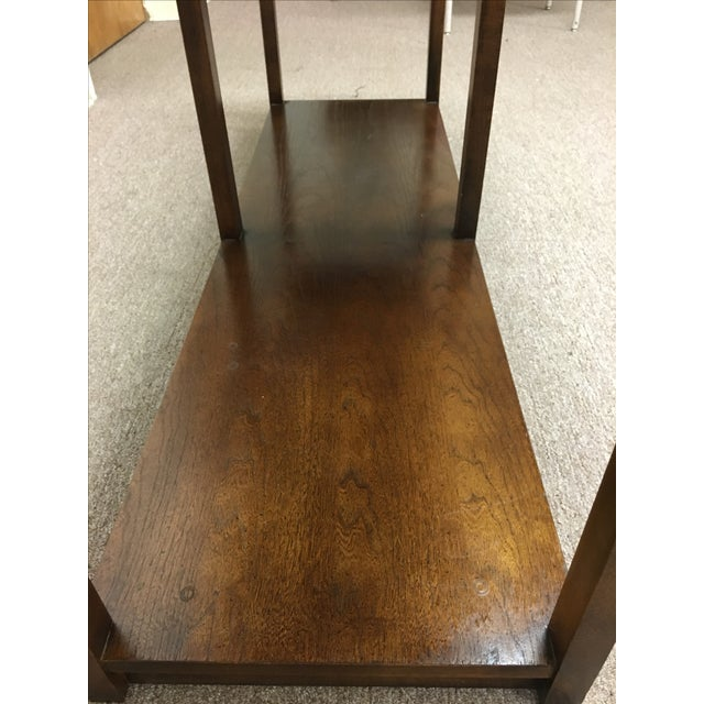 Vintage Wood and Chrome Console/Sofa Table - Image 8 of 10
